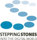 Logo: Stepping Stones into the digital world