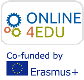 Logo: Online4Edu - Co-funded by Erasmus plus