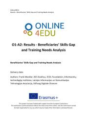 Titelbild Online4EDU Results - Beneficiaries' Skills Gap and Training Needs Analysis