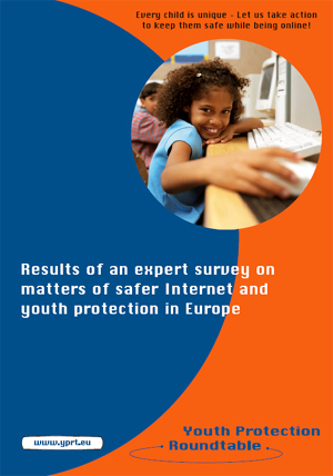 Titelbild Results of an expert survey on matters of safer Internet and youth protection in Europe