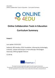 Cover: Online4EDU: Curriculum Summary