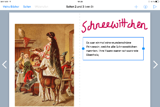 Screenshot der App Bookcreator