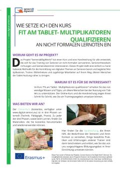 Ansicht: A4 Flyer - Handout Seniors@DigiWorld - Deutsch